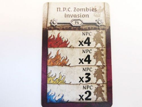 NPC-1 Zombie Activation Card (random)
